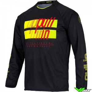 Pull In Challenger Master 2022 Youth Motocross Jersey - Black / Fluo Yellow