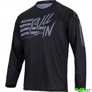 Pull In Challenger Original 2022 Youth Motocross Jersey - Stripes / Black / Grey