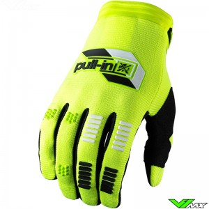 Pull In Challenger 2022 Youth Motocross Gloves - Fluo Yellow