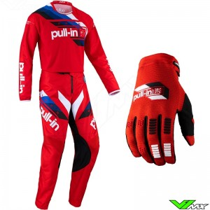 Pull In Challenger Race 2022 Motocross Gear Combo - Red