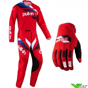 Pull In Challenger Race 2022 Youth Motocross Gear Combo - Red