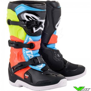 Alpinestars Tech 3s Youth Motocross Boots - Fluo Yellow / Fluo Red