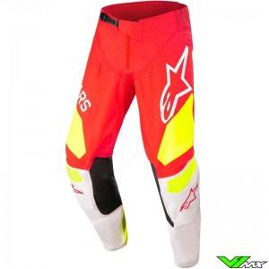 Alpinestars Techstar Factory 2022 Motocross Pants - Fluo Red / Fluo Yellow