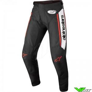 Alpinestars Racer Flagship 2022 Motocross Pants - Black / White / Fluo Red