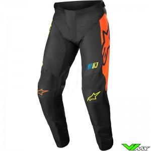 Alpinestars Racer Compass 2022 Motocross Pants - Black / Fluo Yellow / Coral
