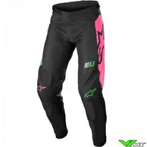 Alpinestars Racer Compass 2022 Motocross Pants - Black / Fluo Green / Fluo Pink