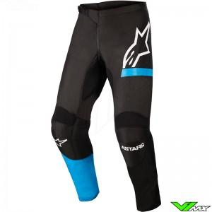 Alpinestars Fluid Chaser 2022 Motocross Pants - Black / Fluo Blue