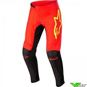 Alpinestars Fluid Tripple 2022 Motocross Pants - Fluo Red / Fluo Yellow