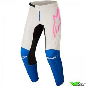 Alpinestars Fluid Tripple 2022 Motocross Pants - Blue / White / Fluo Pink