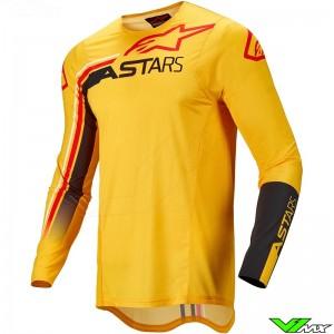 Alpinestars Supertech Blaze 2022 Motocross Jersey - Warm Yellow / Fluo Red