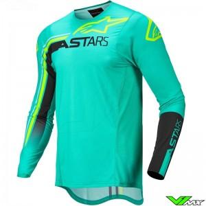Alpinestars Supertech Blaze 2022 Motocross Jersey - Pastel Green / Fluo Yellow