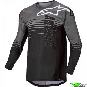 Alpinestars Techstar Graphite 2022 Motocross Jersey - Black / Dark Grey
