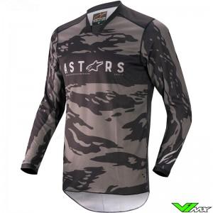 Alpinestars Racer Tactical 2022 Cross shirt - Zwart / Grijs / Camo