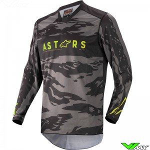 Alpinestars Racer Tactical 2022 Motocross Jersey - Black / Fluo Yellow / Camo