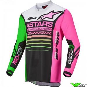 Alpinestars Racer Compass 2022 Motocross Jersey - Fluo Green / Fluo Pink