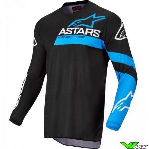 Alpinestars Fluid Chaser 2022 Motocross Jersey - Black / Fluo Blue