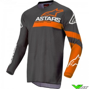 Alpinestars Fluid Chaser 2022 Motocross Jersey - Anthracite / Coral