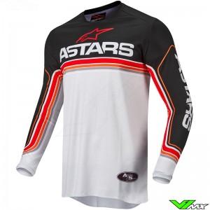 Alpinestars Fluid Speed 2022 Motocross Jersey - Black / Bright Red