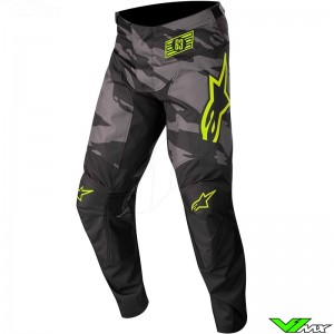 Alpinestars Racer Tactical 2022 Youth Motocross Pants - Black / Fluo Yellow / Camo