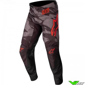 Alpinestars Racer Tactical 2022 Youth Motocross Pants - Black / Fluo Red / Camo