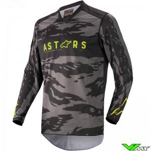 Alpinestars Racer Tactical 2022 Youth Motocross Jersey - Black / Fluo Yellow / Camo