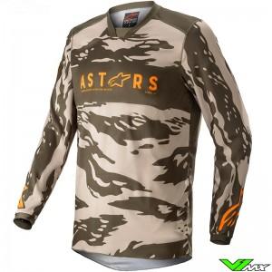 Alpinestars Racer Tactical 2022 Youth Motocross Jersey - Sand / Camo