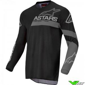 Alpinestars Racer Graphite 2022 Kinder Cross shirt - Zwart / Grijs