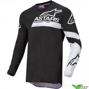 Alpinestars Racer Chaser 2022 Kinder Cross shirt - Zwart / Wit
