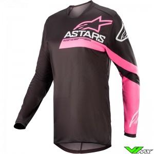 Alpinestars Fluid Chaser Stella 2022 Women Motocross Jersey - Black / Fluo Pink