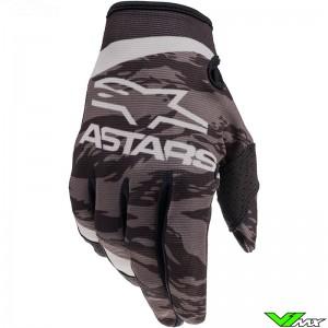 Alpinestars Radar 2022 Youth Motocross Gloves - Black / Grey / Camo