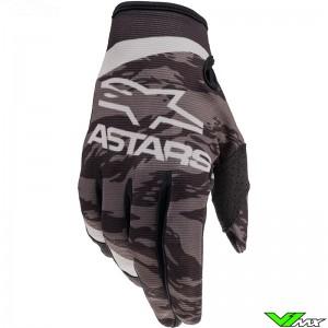 Alpinestars Radar 2022 Motocross Gloves - Black / Grey / Camo