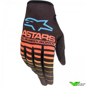 Alpinestars Radar 2022 Motocross Gloves - Fluo Yellow / Coral