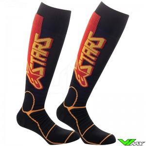 Alpinestars Pro Cross sokken - Zwart / Tangerine