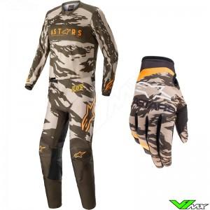 Alpinestars Racer Tactical 2022 Motocross Gear Combo - Sand / Camo