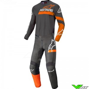 Alpinestars Fluid Chaser 2022 Motocross Gear Combo - Anthracite / Coral