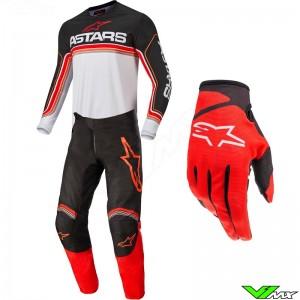 Alpinestars Fluid Speed 2022 Motocross Gear Combo - Black / Bright Red