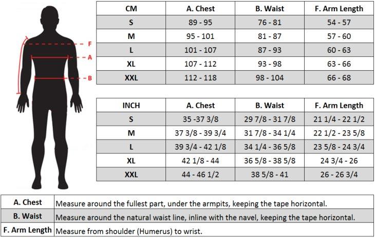Alpinestars MX Jersey Size chart