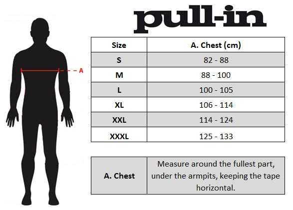 pull-in MX Jersey Size chart